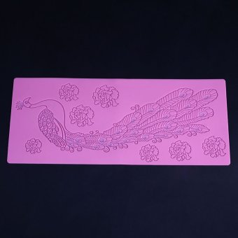 3D Peacock Silicone Mould Cake Sugarcraft Mold Lace BakingDecorating Tool - intl