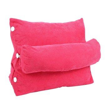 60*50*22cm Adjustable Pillow Rest Cushion With Filler Home Decorfor Back Support (Rose Red) - intl