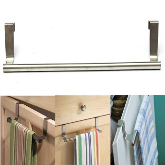 7Pcs Door Kitchen Bathroom Hanger Towel Scarf Holder Drawer Hook 36cm - intl