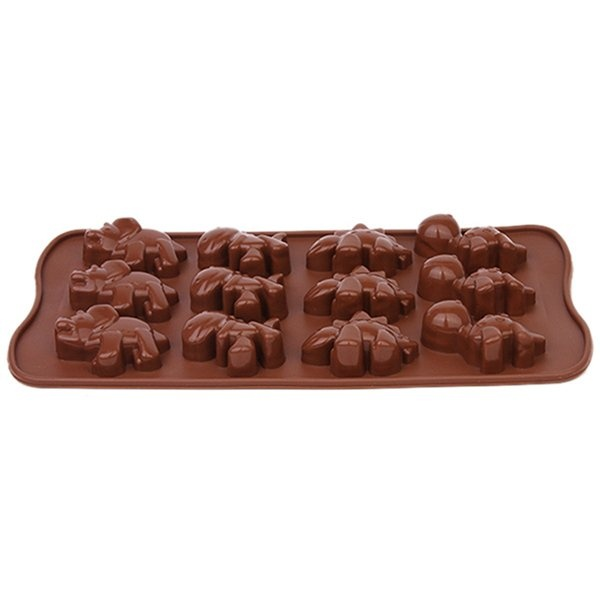 Ai Home 12 Holes Silicone Cake Mold (Brown) - intl