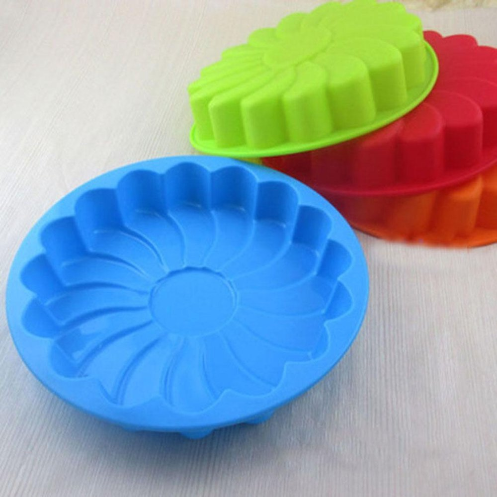 Ai Home Silicone Sun Flower Shaped Cake Mold (Red) - intl