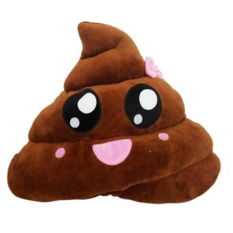 Amusing Emoji Emoticon Cushion Heart Eyes Poo Shape Pillow Doll Toy Throw Gift - intl