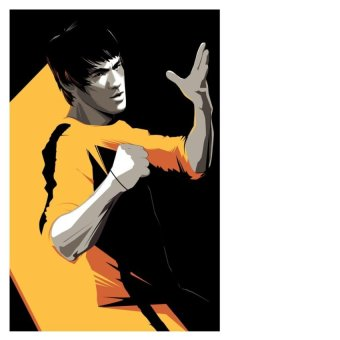 Ảnh decal bóc dán Bruce lee ( 297mm x 210mm ).MotoPro