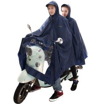 Áo mưa choàng 2 mũ K82F (Đen)
