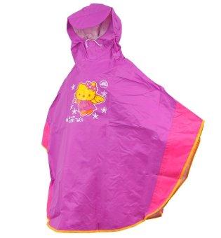 Áo mưa trẻ em 12 tuổi (Tím phối hồng)