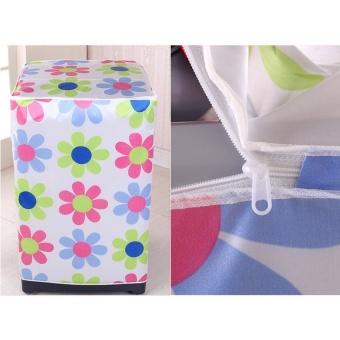 Áo Trùm Máy Giặt Cửa Đứng Chất Liệu Satin (hoa Văn)