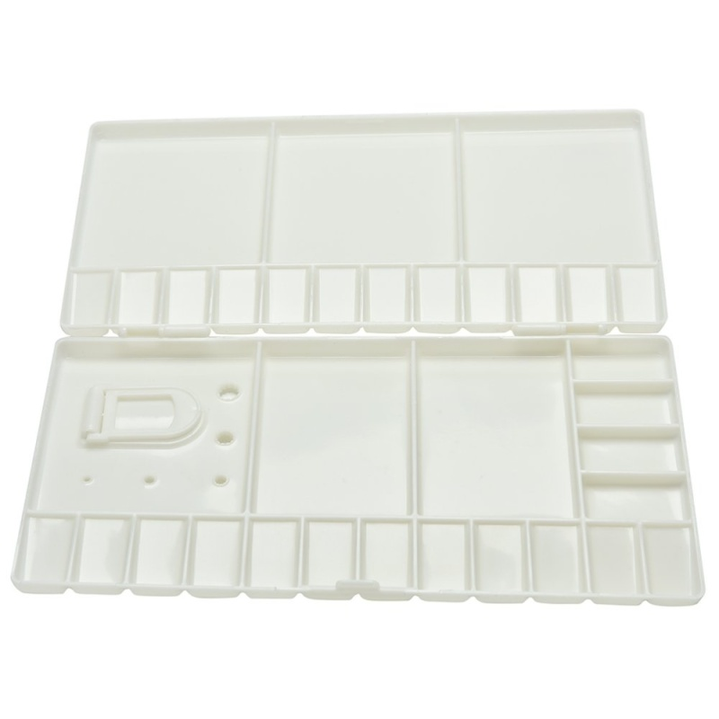 Mua Art Paint Tray Artist Oil Watercolor Plastic Palette White 33 Grids L Size - intl