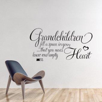 Art Vinyl Decal Grandchildren Retro Heart Quotes Wall Sticker Bedroom Removable Decor - intl