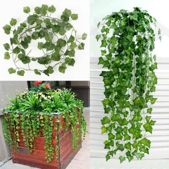 Artificial Ivy Vine Leaf Garland Plants Fake Foliage Flowers DecoGreen - intl