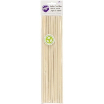 Bamboo Dowel Rods, Pack Of 12 - intl