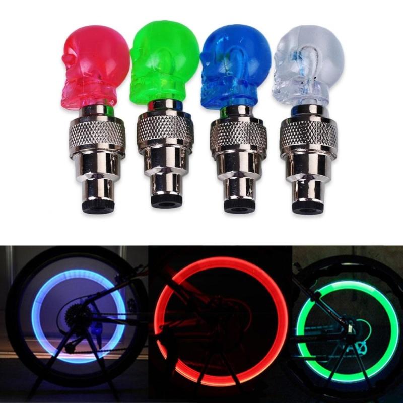 Bảng giá Mua Bestprice-Colors Car Auto Vehicle LED Neon Bike Wheel Tyre Dust Cap Spoke Safety Light - intl