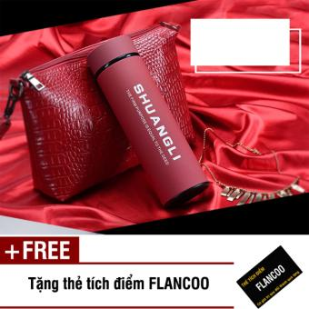 Bình giữ nhiệt inox Flancoo 480ml 4783 (Đỏ) + Tặng thẻ tích điểmFlancoo