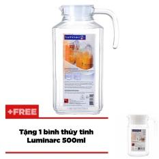 Bình nước thủy tinh Luminarc Quadro 1.7L + Tặng bình nước Quadro 0.5L