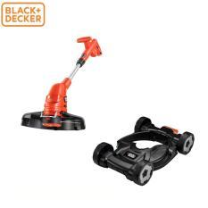 Black+Decker - Máy cắt cỏ cầm tay 450W GL4255 + CM100 BÁNH XE ĐẨY GL4525CM-B1