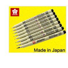 Bộ 07 bút kim đi line, vẽ kỹ thuật Sakura Pigma Micron (size 0.05-0.8)