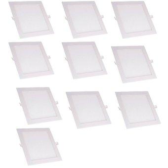 Bộ 10 đèn led âm trần siêu mỏng 9w vuông trắng