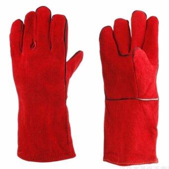 Bộ 10 Đôi Găng tay da hàn màu đỏ - loại mỏng