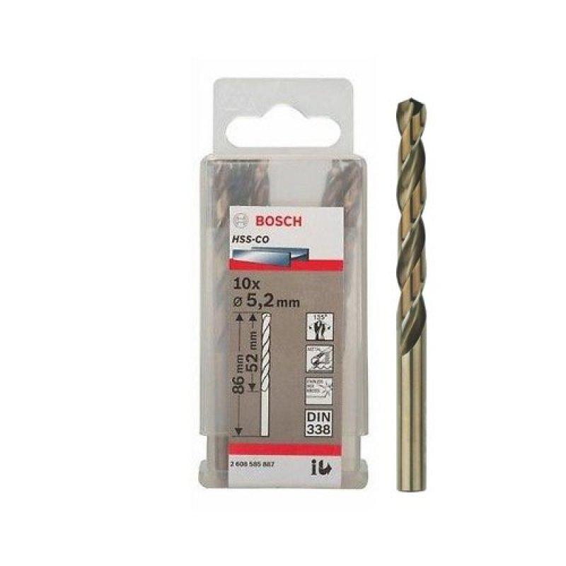 Bộ 10 mũi Sắt và INOX HSS-Co 5.2 mm