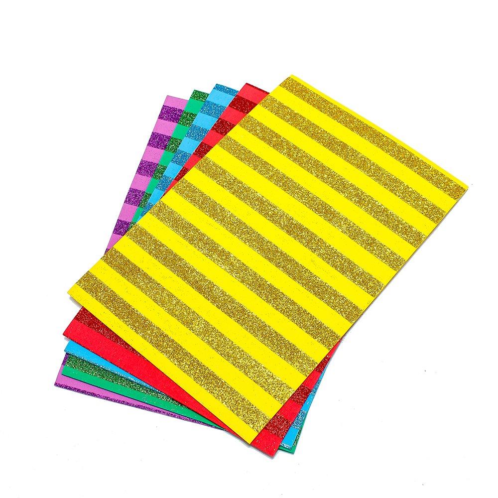 Bộ 10 tờ Xốp thủ công kim tuyến UBL QB0283