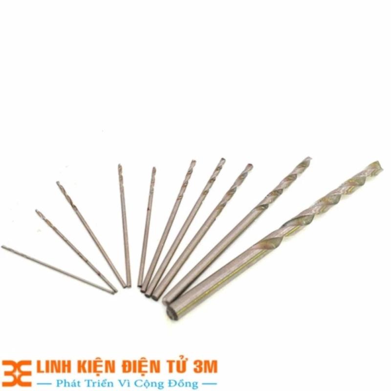 Bảng giá Bộ 11 Mũi Khoan Mini (0.5-0.6-0.7-0.8-0.9-1.0-1.2-1.5-2.0-3.0-5.0mm Mỗi loại 1 Chiếc )