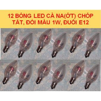 Bộ 12 bóng LED CANA (ỚT) chóp tắt, đổi màu