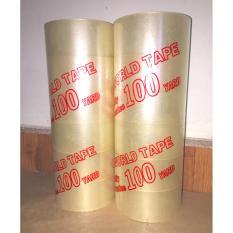 Bộ 2 cây băng keo ( 6 cuộn/cây) 4.8cm - 100 Yard đủ siêu dính, độ dai tiêu chuẩn xuất khẩu.