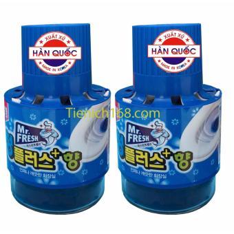 Bộ 2 Chai thả bồn cầu tự động làm sạch diệt khuẩn và làm thơmMr.Fresh RCB178