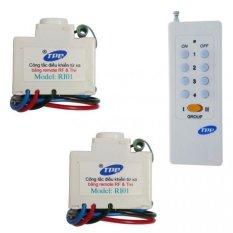 Bộ 2 công tắc điều khiển từ xa IR + RF TPE RI01 + Remote 16 nút RM01