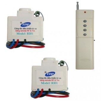 Bộ 2 công tắc điều khiển từ xa IR + RF TPE RI01 + Remote tầm xa 3000m R4B4