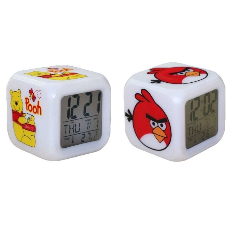 Nơi bán Bộ 2 đồng hồ báo thức 7 màu Gấu Pooh - Angry Bird