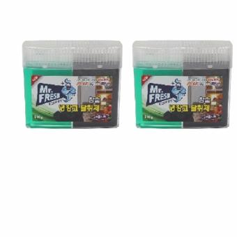 Bộ 2 gel khử khuẩn tủ lạnh than hoạt tính chuyên dụng tiện lợi MrFresh 300g