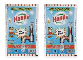 Bộ 2 gói bột thông cống nội địa Hando 100g CS320 (Xanh)