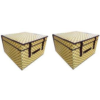 Bộ 2 hộp đựng đồ chống thấm lớn Handomart (Nâu)