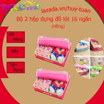 Bộ 2 Hộp đựng đồ lót 16 ngăn tiện dụng (màu hồng) - 8197483 , HU276HLAA4RE9BVNAMZ-8764528 , 224_HU276HLAA4RE9BVNAMZ-8764528 , 180000 , Bo-2-Hop-dung-do-lot-16-ngan-tien-dung-mau-hong-224_HU276HLAA4RE9BVNAMZ-8764528 , lazada.vn , Bộ 2 Hộp đựng đồ lót 16 ngăn tiện dụng (màu hồng)