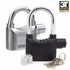 Bộ 2 khóa báo động và chống trộm thông minh Kinbar (đen và bạc)