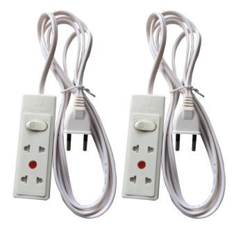 Bộ 2 ổ cắm điện mini 2 ổ cắm dây dài 2.5 mét Tiến thành