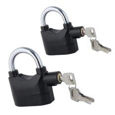 Bộ 2 ổ khóa báo động chống trộm (Đen)