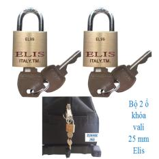 Bộ 2 ổ khóa vali, túi xách 25 mm Elis