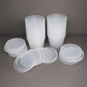 Bộ 20 chiếc Hộp nhựa làm caramen sữa chua hình tròn