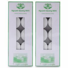 Bộ 20 nến tealight khử mùi (10 nến/hộp) Miss Candle FtraMart (Trắng)