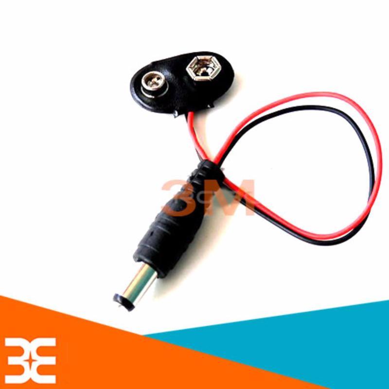 Bảng giá Mua Bộ 3 Dây Tạo Nguồn Từ Pin Vuông 9V sang Jack DC 5.5*2.1mm