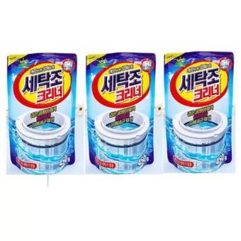 Bộ 3 gói bột vệ sinh tẩy lồng máy giặt 450Gr Korea