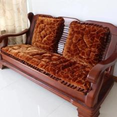 Bộ 3 Tấm Nệm lót ghế  Dạng Thảm Nhung 3D - Chần bông Dày Dặn