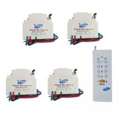 Bộ 4 công tắc điều khiển từ xa sóng RF lắp mặt PANASONIC TPE RC1P + Remote 16 nút RM01