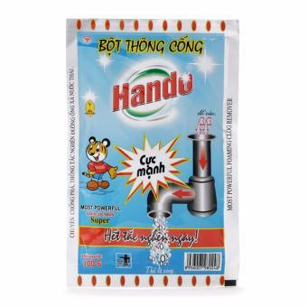 Bộ 4 gói bột thông cống 100g nội địa Hando - 2