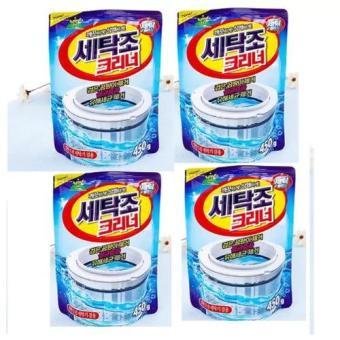 Bộ 4 gói bột vệ sinh tẩy lồng máy giặt 450Gr Korea