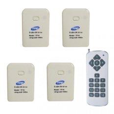 Bộ 4 ổ cắm điều khiển từ xa hồng ngoại RF TPE TF10 + Remote 18 nút R3.4