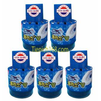 Bộ 5 Chai thả bồn cầu tự động làm sạch diệt khuẩn và làm thơmMr.Fresh TI691