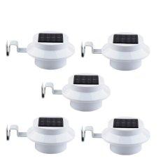 Bộ 5 đèn cảm ứng năng lượng mặt trời 3 led chìm (Trắng)