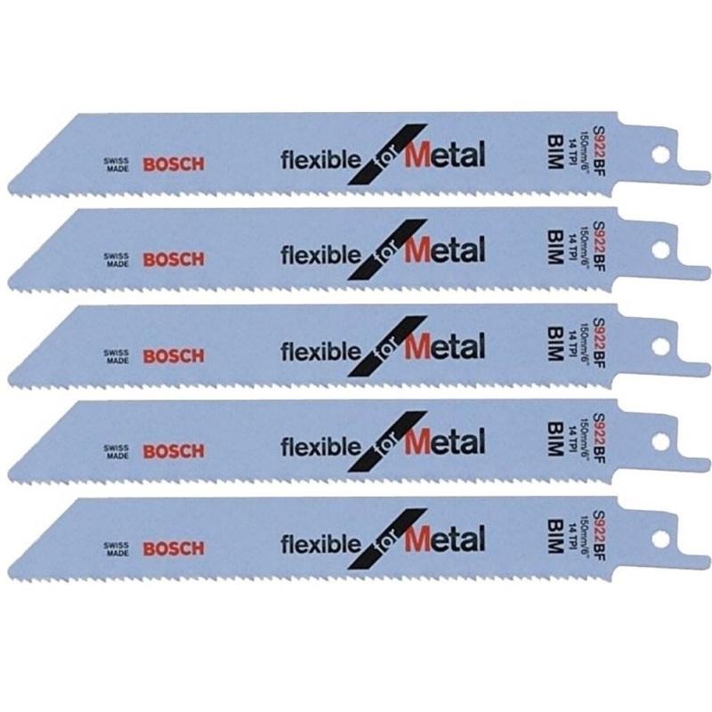 Bộ 5 lưỡi cưa sắt Bosch S1122BF (Xám)